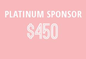 WIN Platinum-Level Sponsor: $450