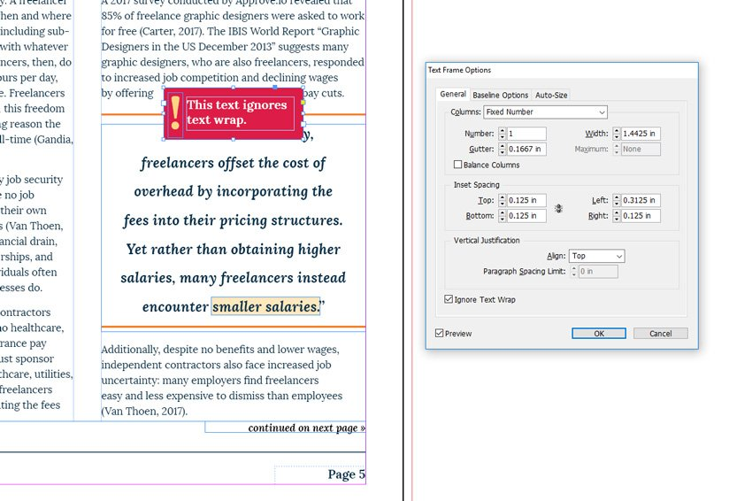 How To Use Indesign Text Wrap Lara Lee Design