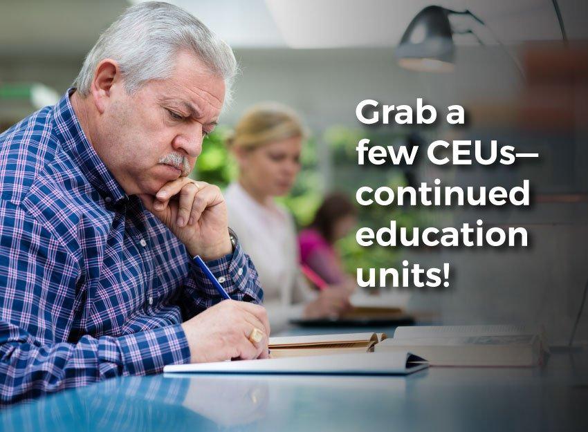 Graphic. Grab a few CEUs--continued education credits!