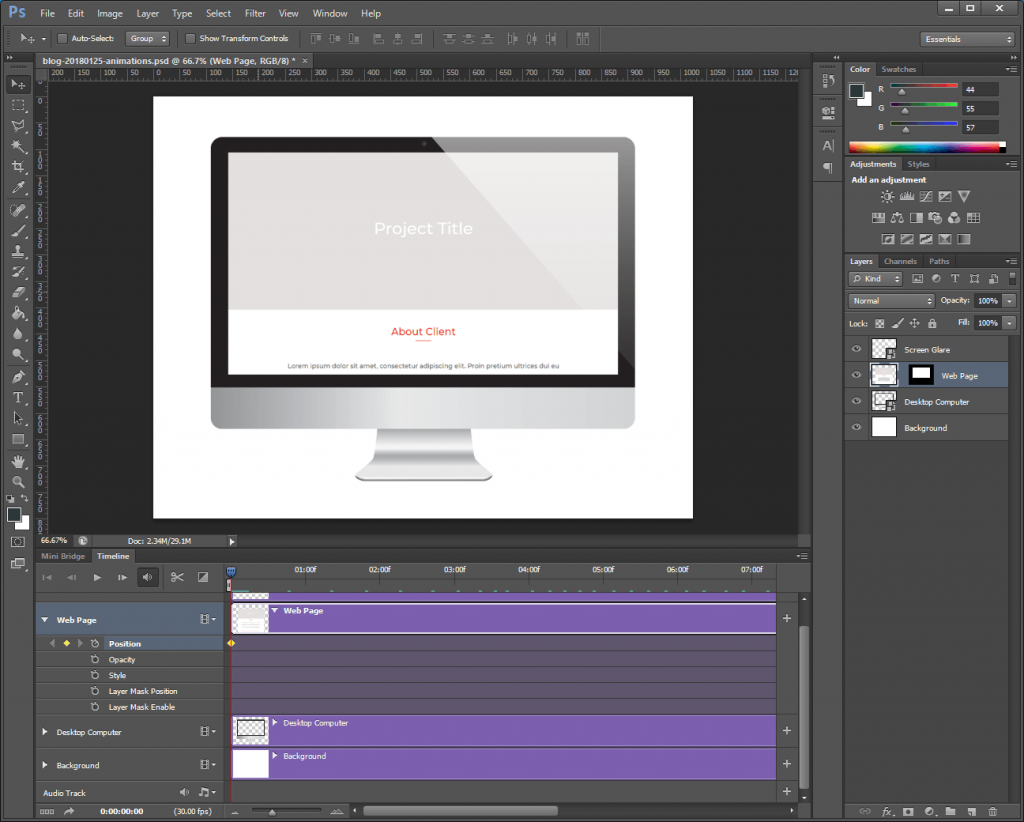 Step 8: Animate the downward scrolling.