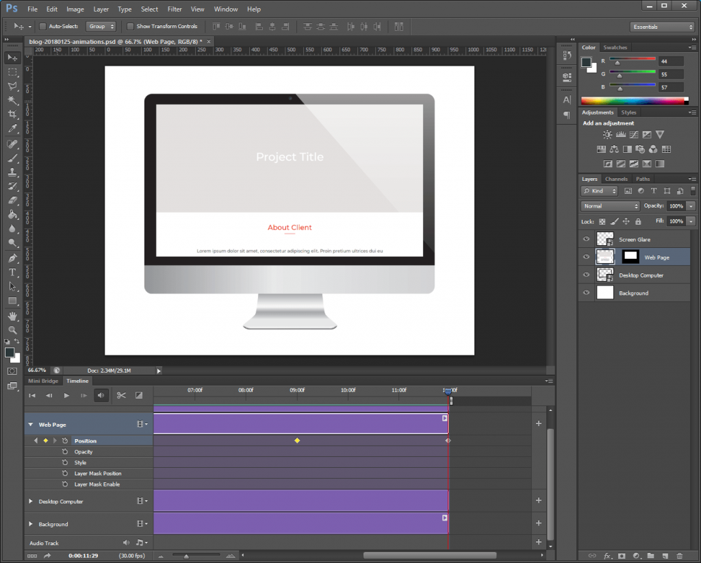 Step 10: Watch the Photoshop animation GIF.