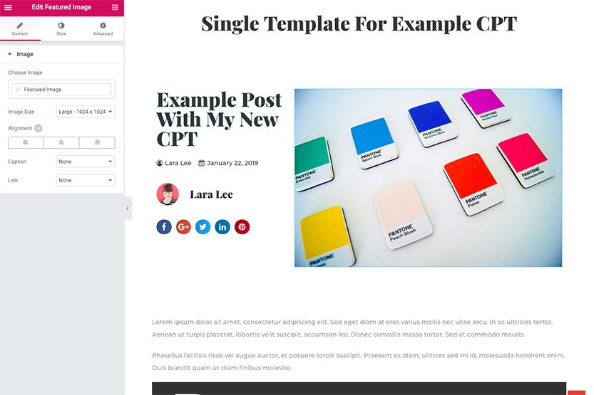 How to Make Custom Post Types with Elementor Pro | Lara Lee