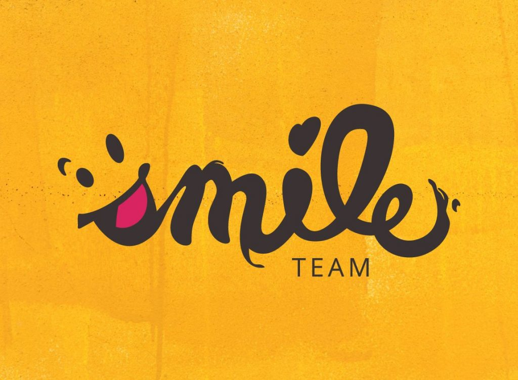 Case study: Smile Team logo design and core identity. Featured image.