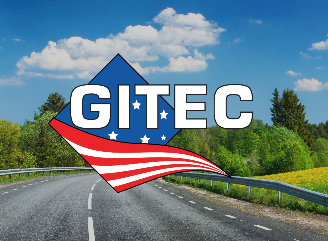 Case Study: GITEC 2016 Summit conference identity. Logo overlaid on a summery photo of a highway.