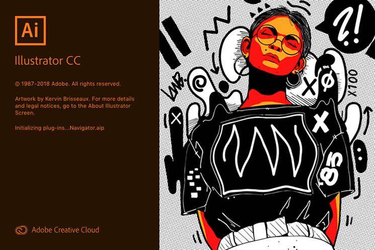 Screenshot. Adobe Illustrator Creative Cloud splash screen.