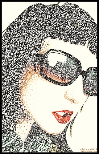 Example of a micrography portrait by DeviantArt user chinad0ll.