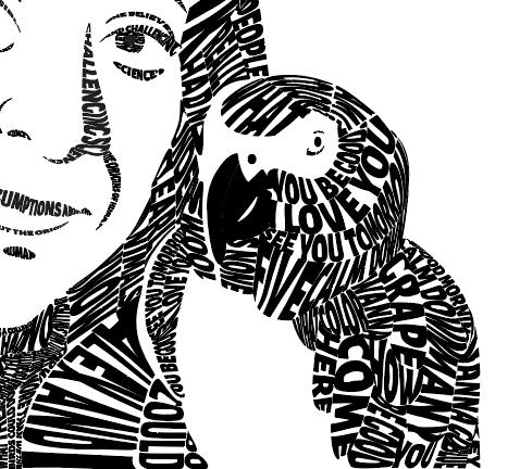 The original gradient meshes in the parrot's beak were removed to make the face more legible.