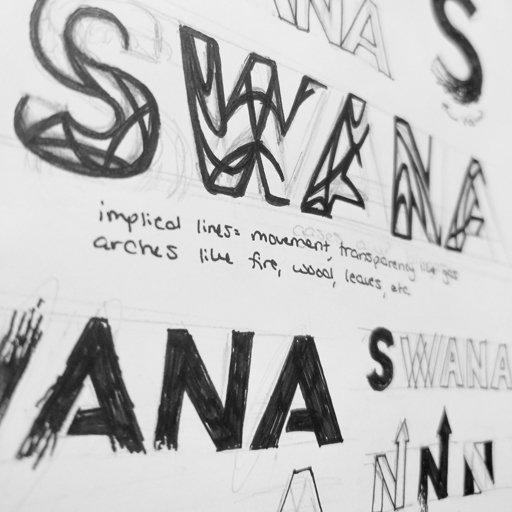 My original sketches for the SWANA corporate logo re-design.