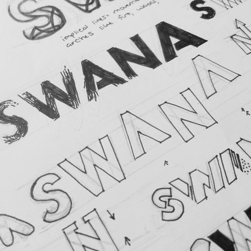 More of my original sketches for the SWANA corporate logo re-design.