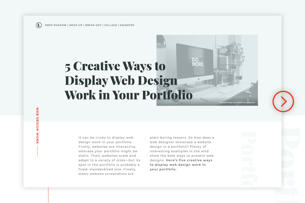5 Creative Ways to Display Web Design Work in Your Portfolio