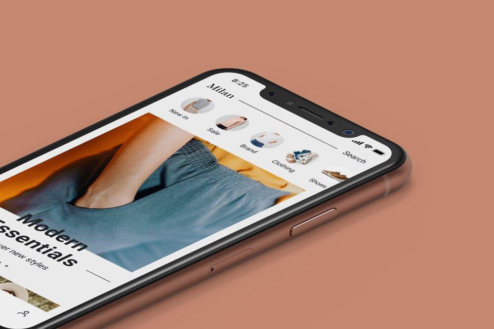 Credit: Milan Fashion App UI Kit at Interface Market.