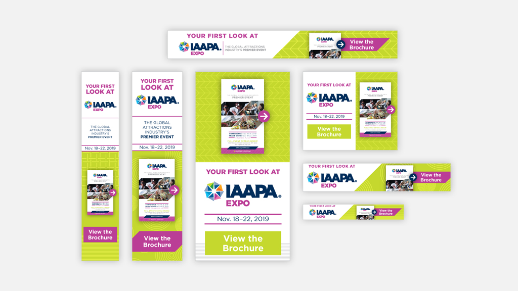 Content re-marketing web ads add to the online advertising of IAAPA Expo 2019.