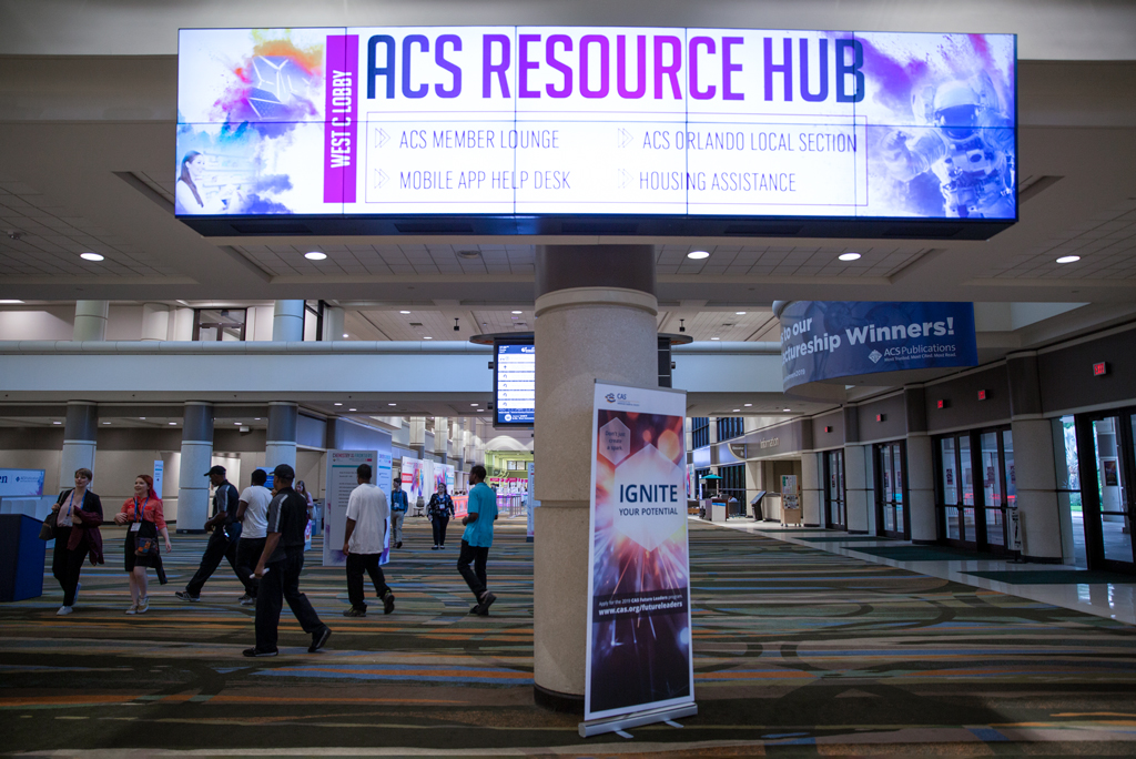 Onsite photo of the ACS Resource Hub sign.