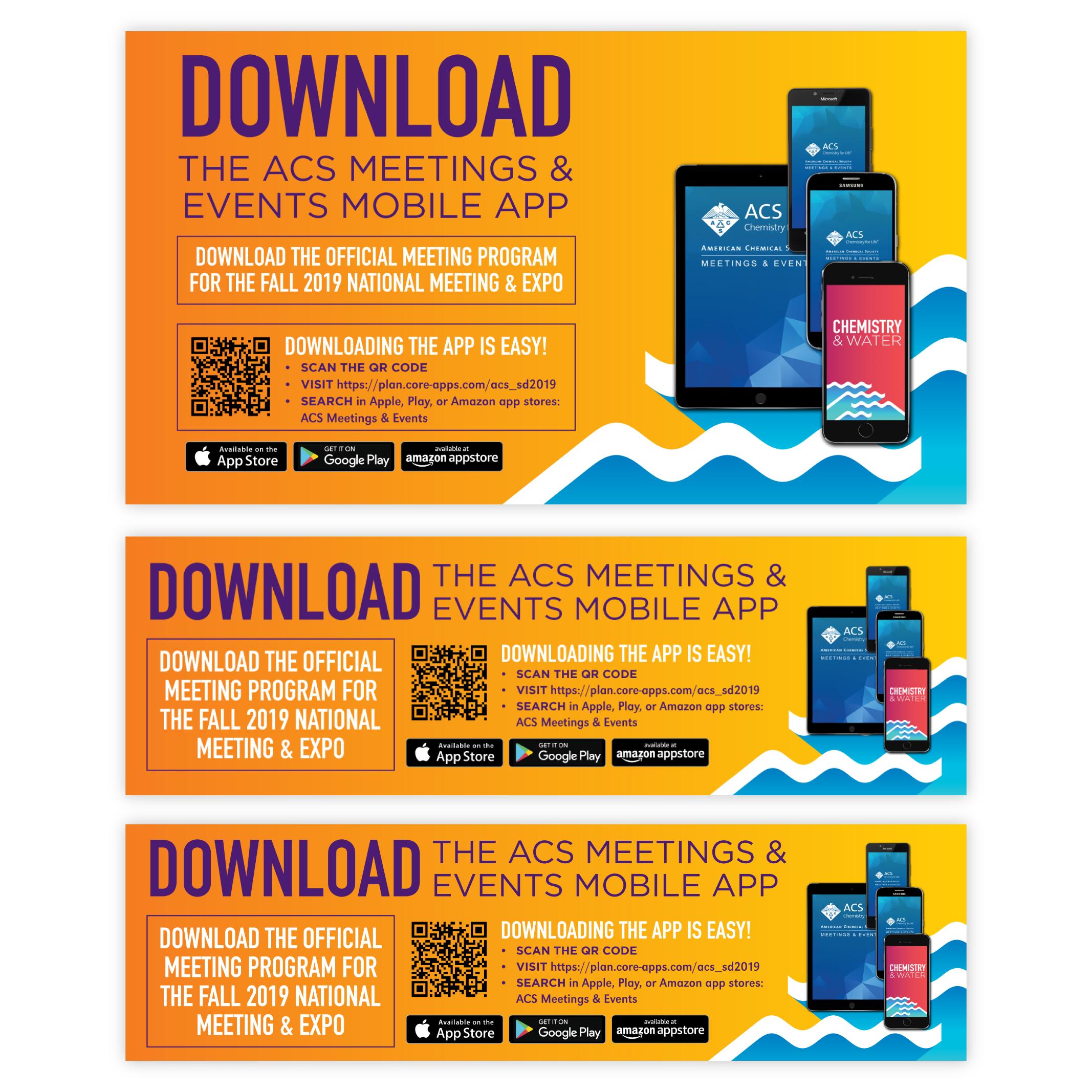 The Mobile App set of digital signage.