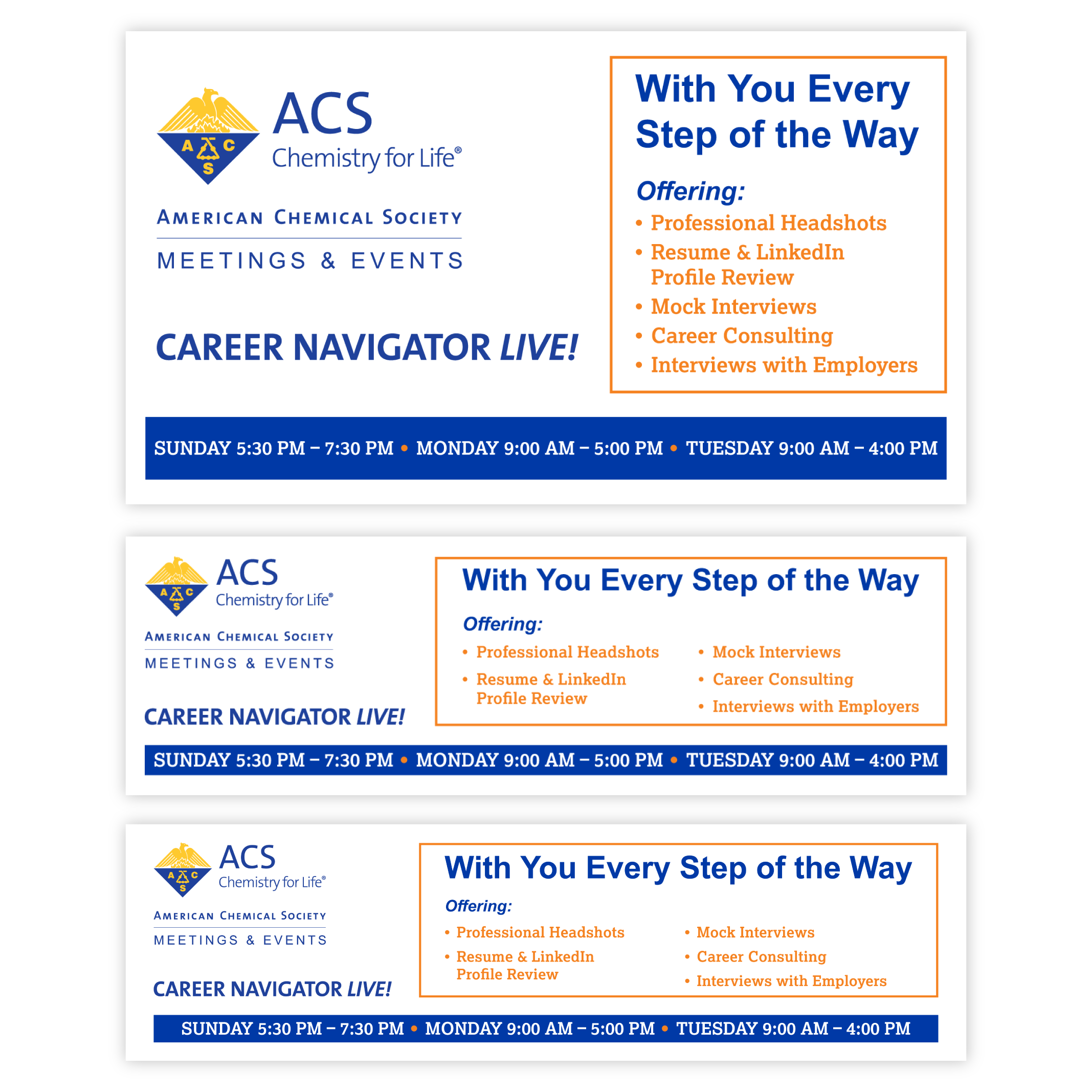 ACS Meetings & Events Career Navigator LIVE! gets its own branded electronic signage.
