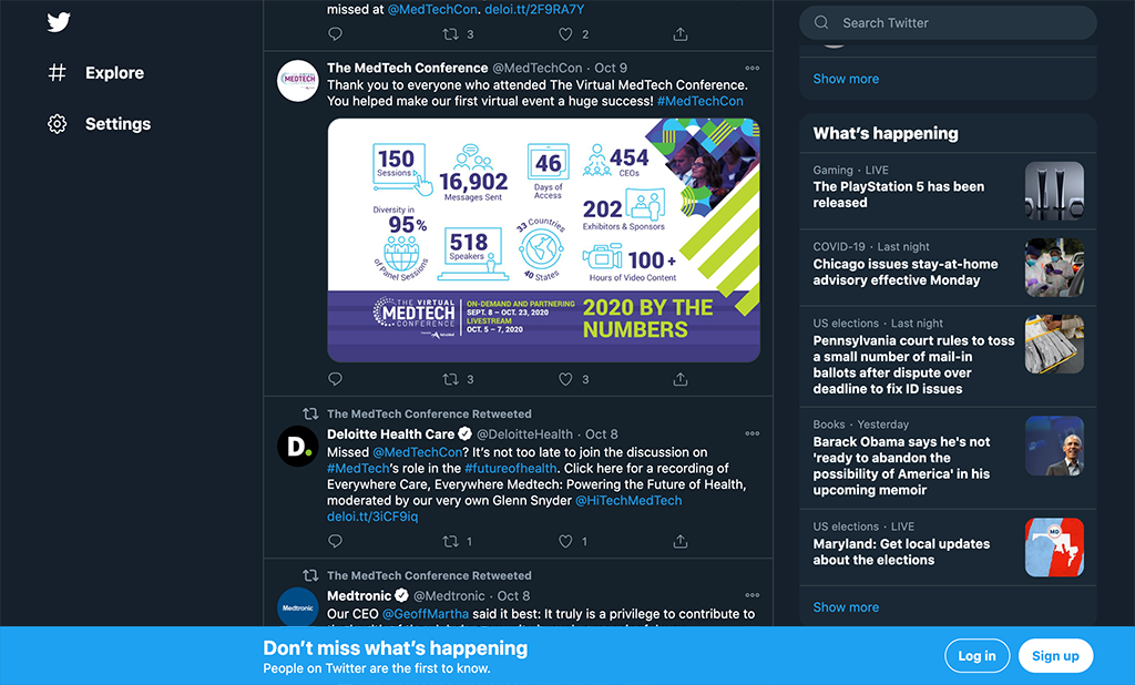 The same universal social size post-show infographic appears on Twitter.