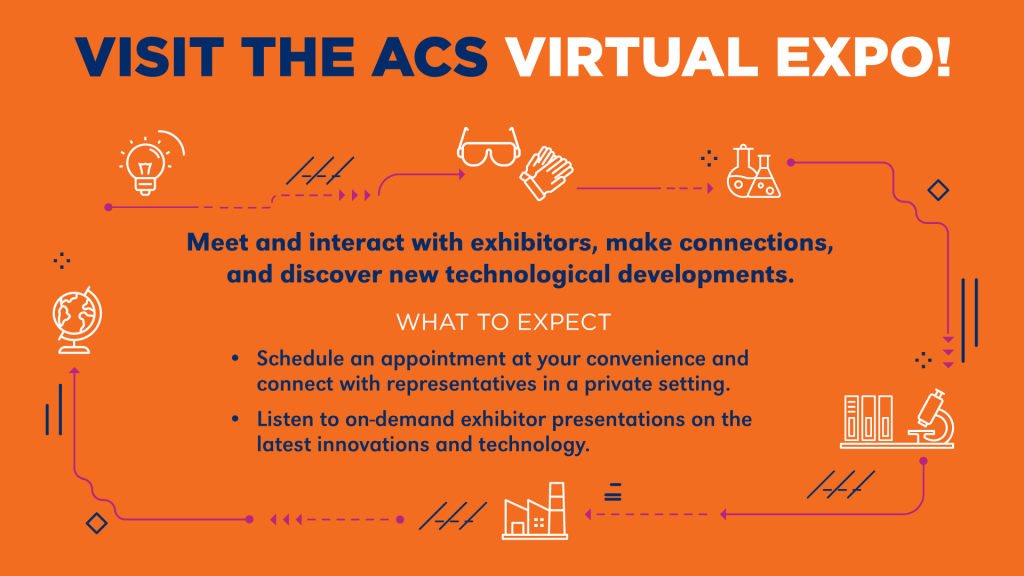 This virtual signage encouraged attendees to browse the ACS Virtual Expo.