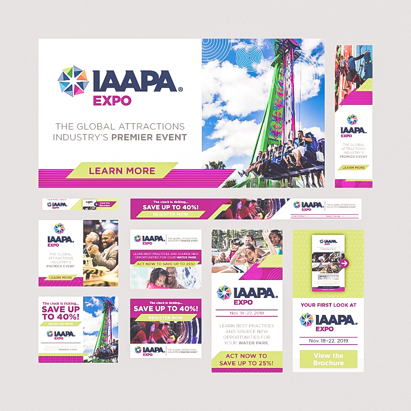 Award-winning web design for IAAPA Expo 2019 Online Advertising