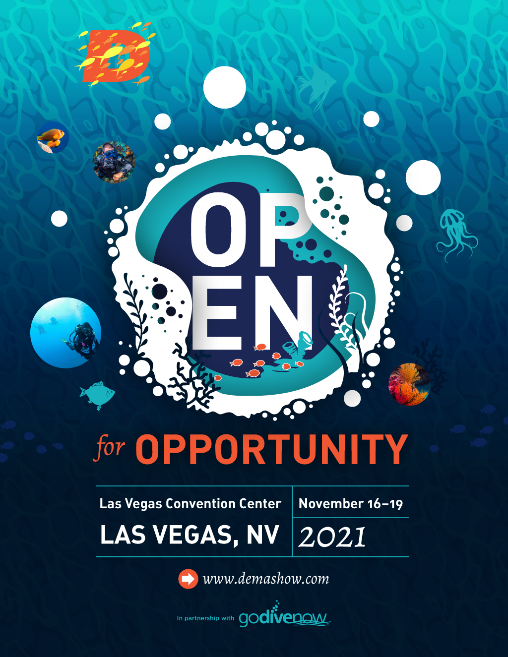 """2nd core concept and branding feature image for the marketing tagline, """"Open for Opportunity."""""""