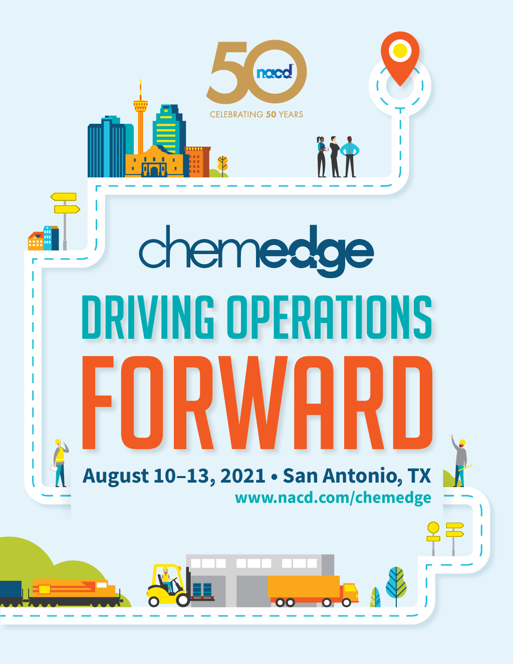 """Final visual identity for """"Driving Operations Forward."""""""