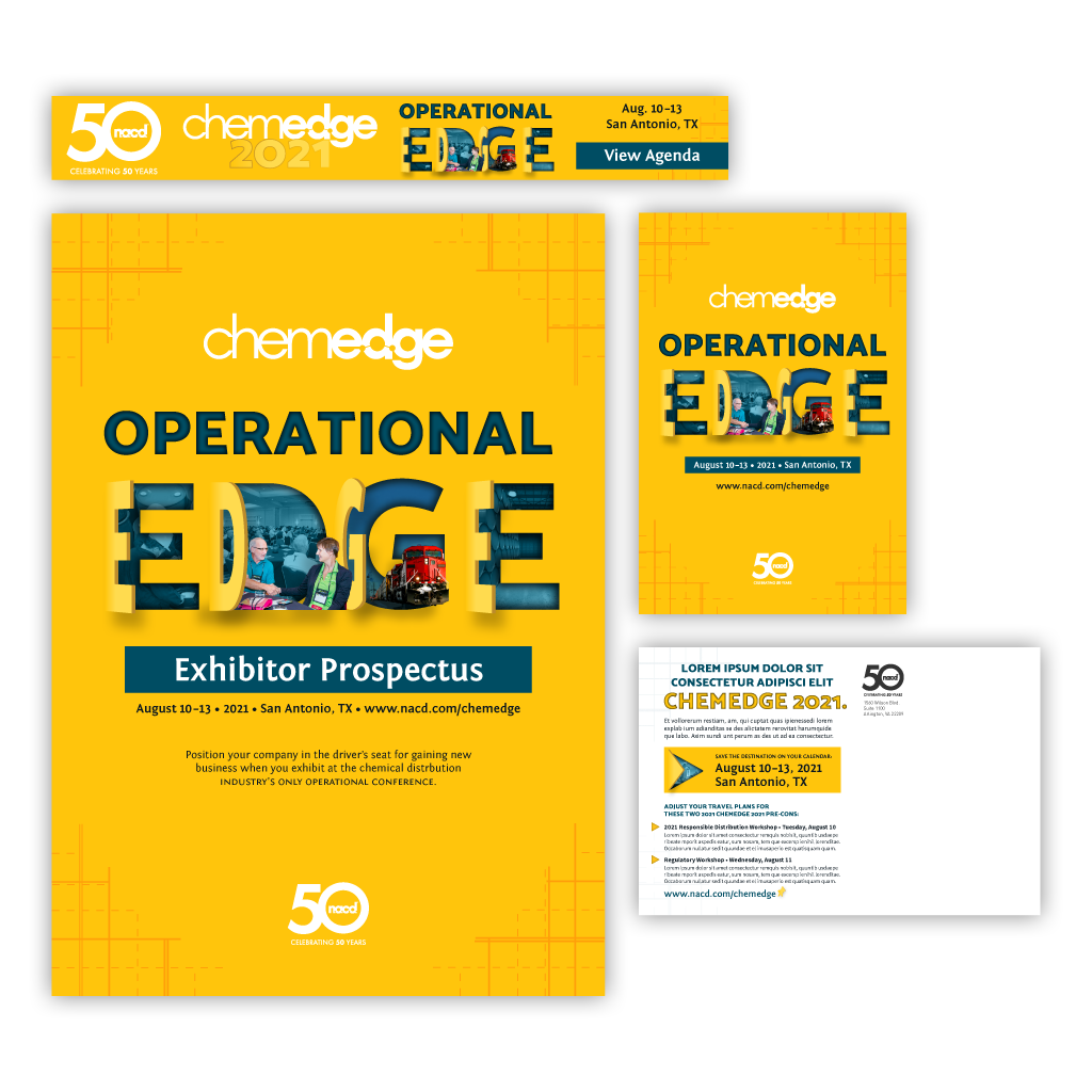 """Final branding concepts and responsive designs for the """"Operational Edge"""" event theme."""