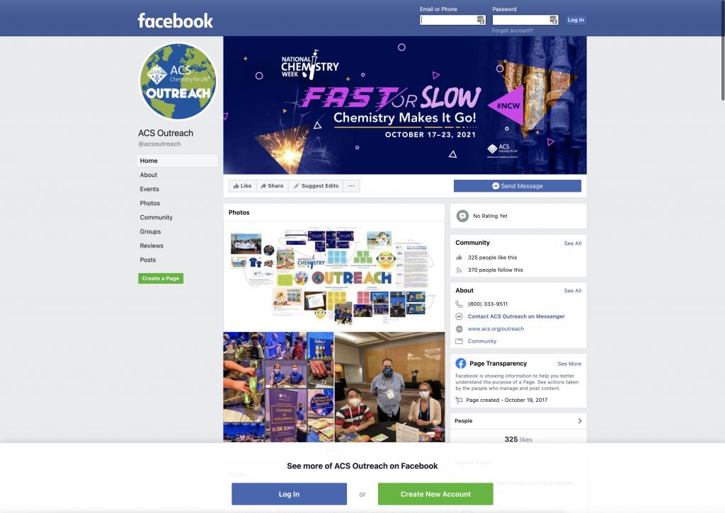 Facebook profile social media branding on desktop.