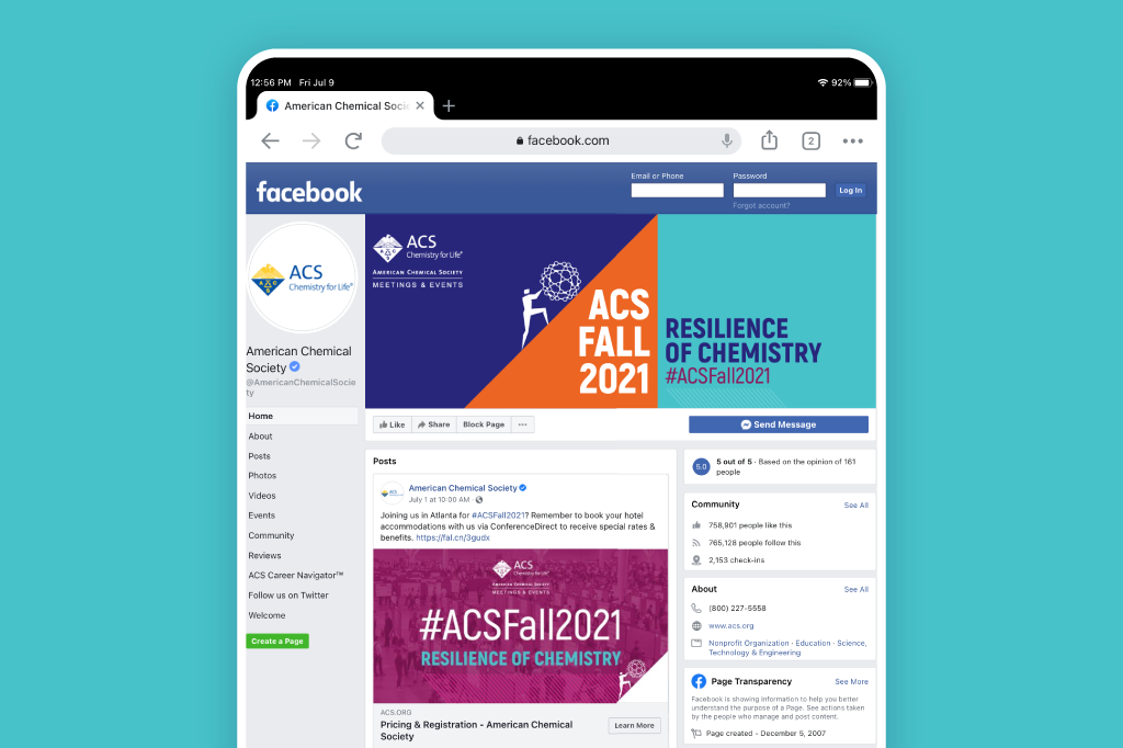 Live Facebook page cover from the Fall 2021 branded social media graphics.